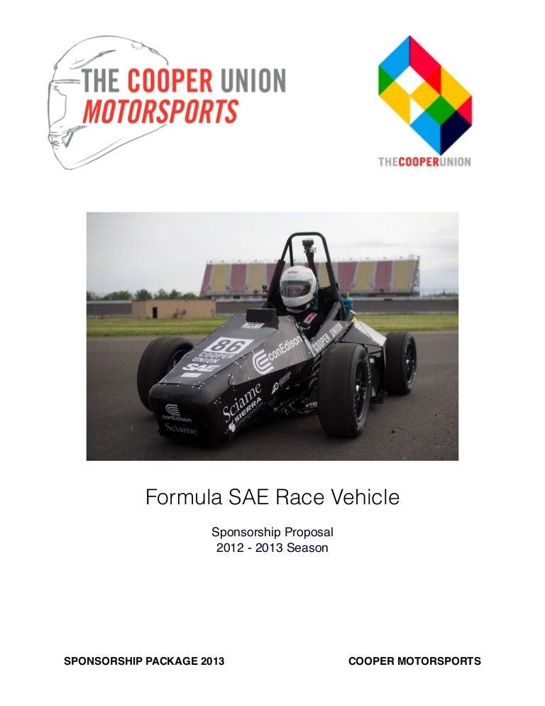 FSAE Sponsorship 10212 – Race Car Sponsorship Proposal Template