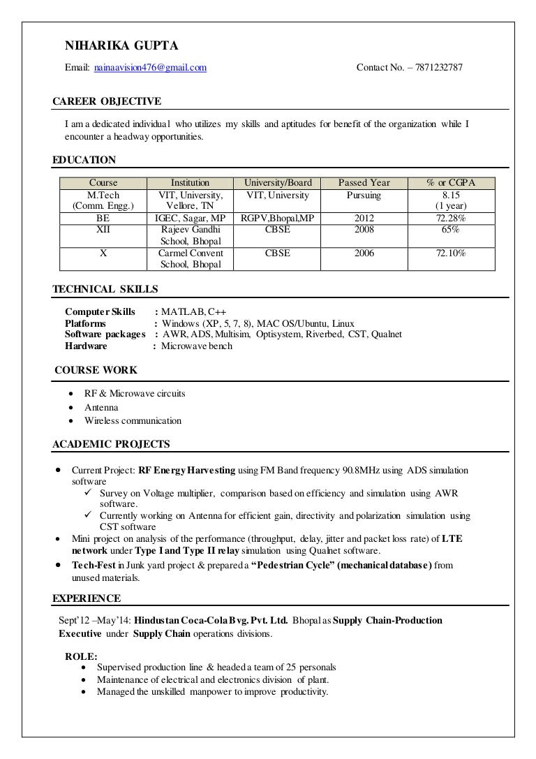 100 Computer Technician Resume Sample Professional Custom