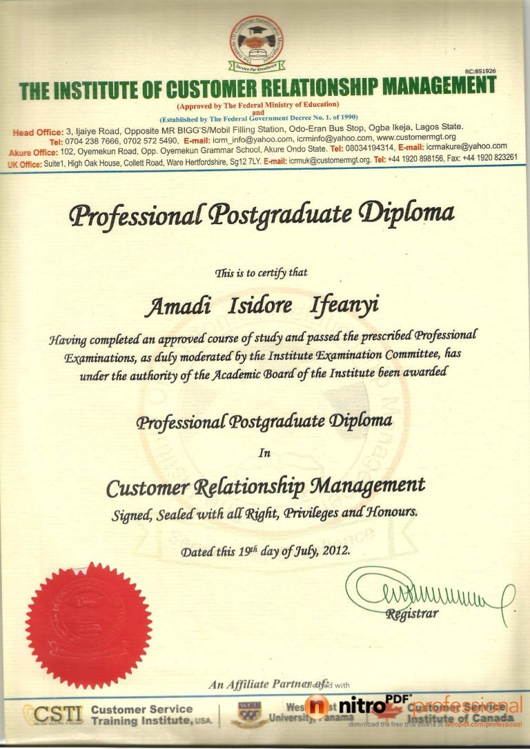 Postgraduate Certificate