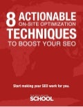 8 Actionable On Site Optimization Techniques to Boost your SEO (eBook demo)