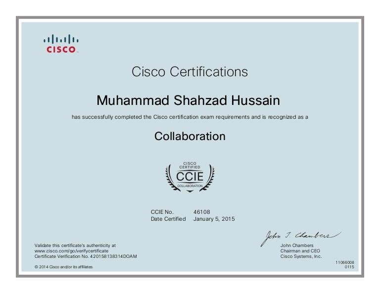 010-CCIE Collaboration Certificate