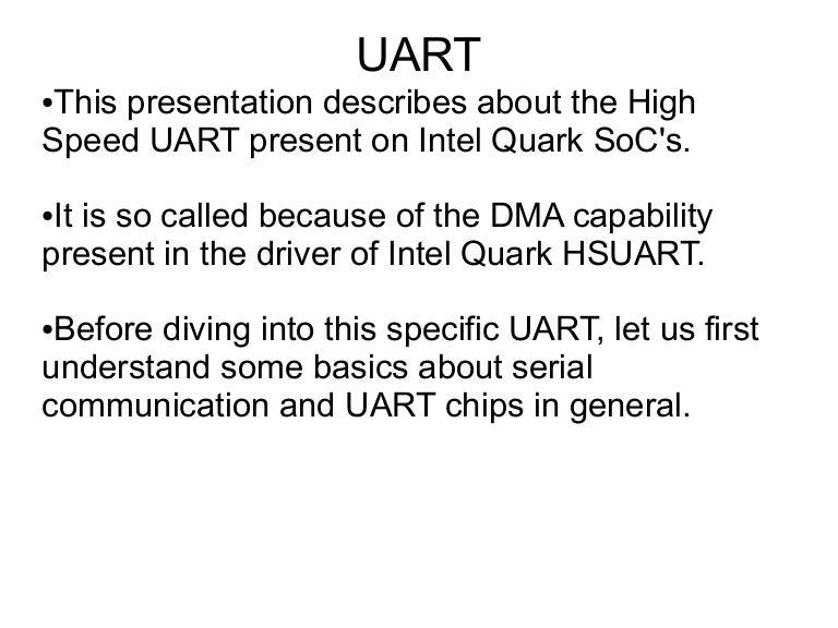Intel Quark HSUART
