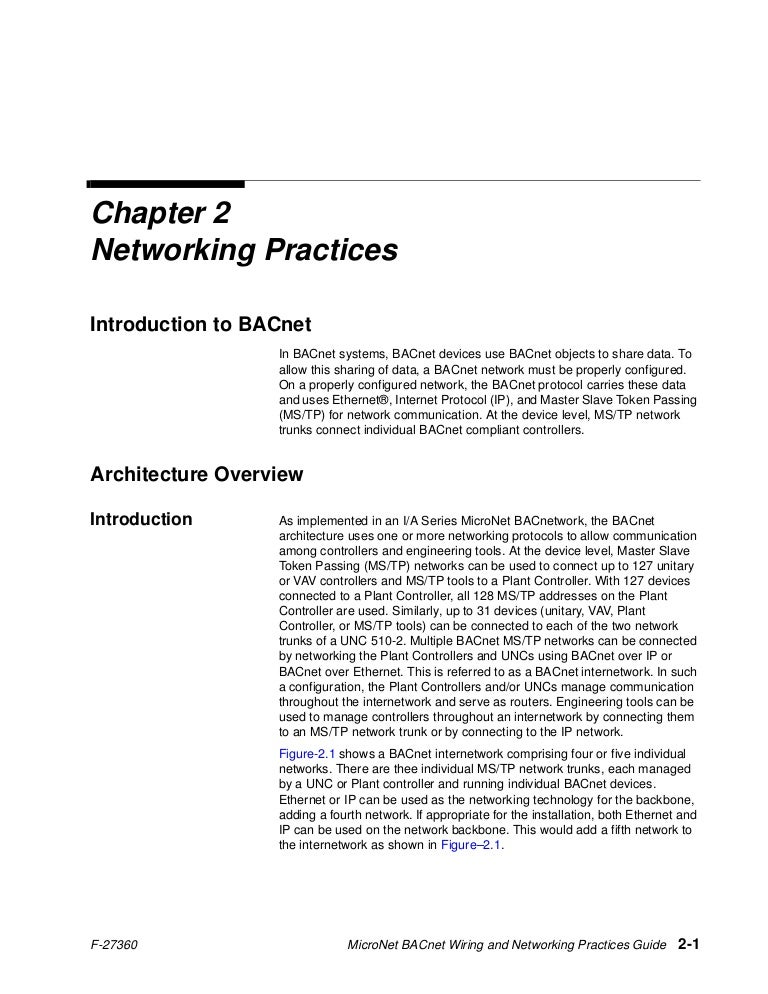 bacnet networking guide rh slideshare net siemens bacnet wiring bacnet wiring specifications
