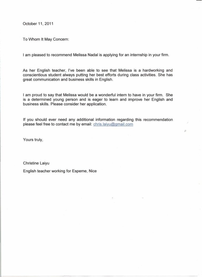 Awesome Letter Of Recommendation from cdn.slidesharecdn.com