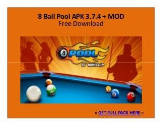8 Ball Pool 3.7.4 Apk + Mod - Free Download