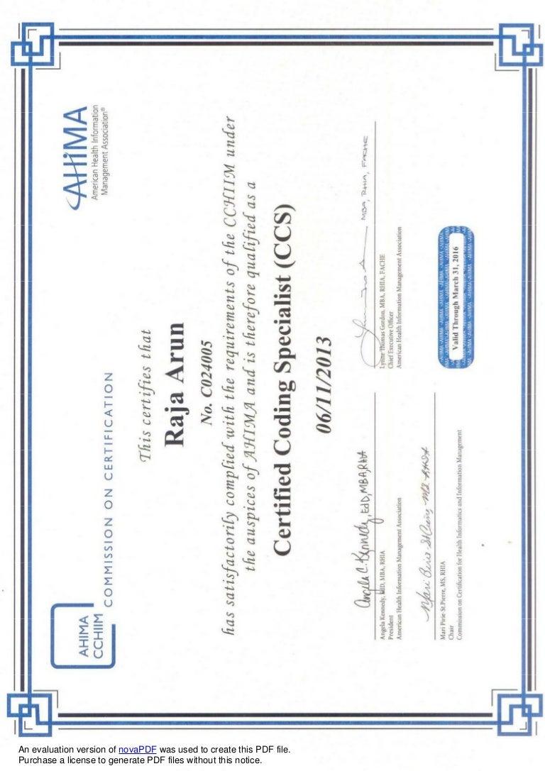 Ccs certificate xflitez Choice Image