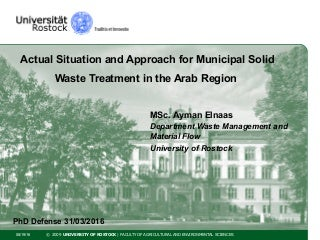 Phd thesis on municipal solid waste management