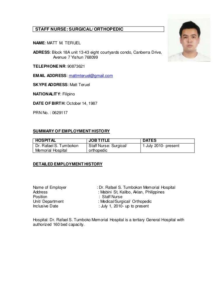sample resume doctor philippines