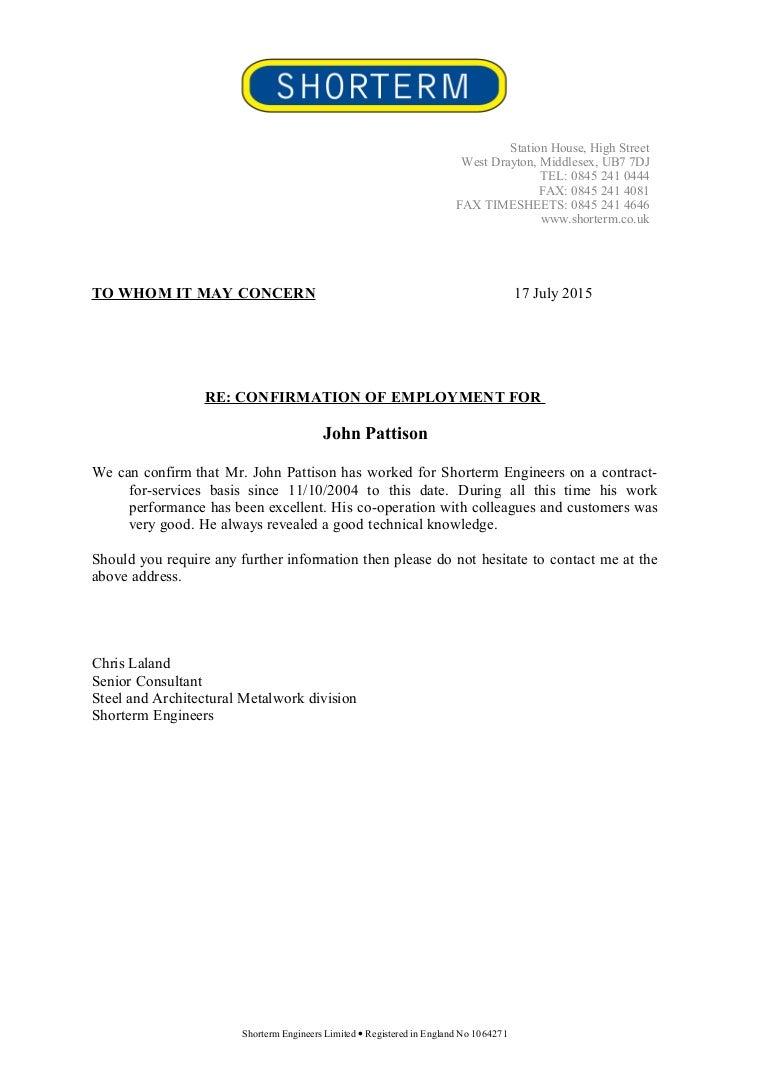 Confirmation employment letter altavistaventures Gallery
