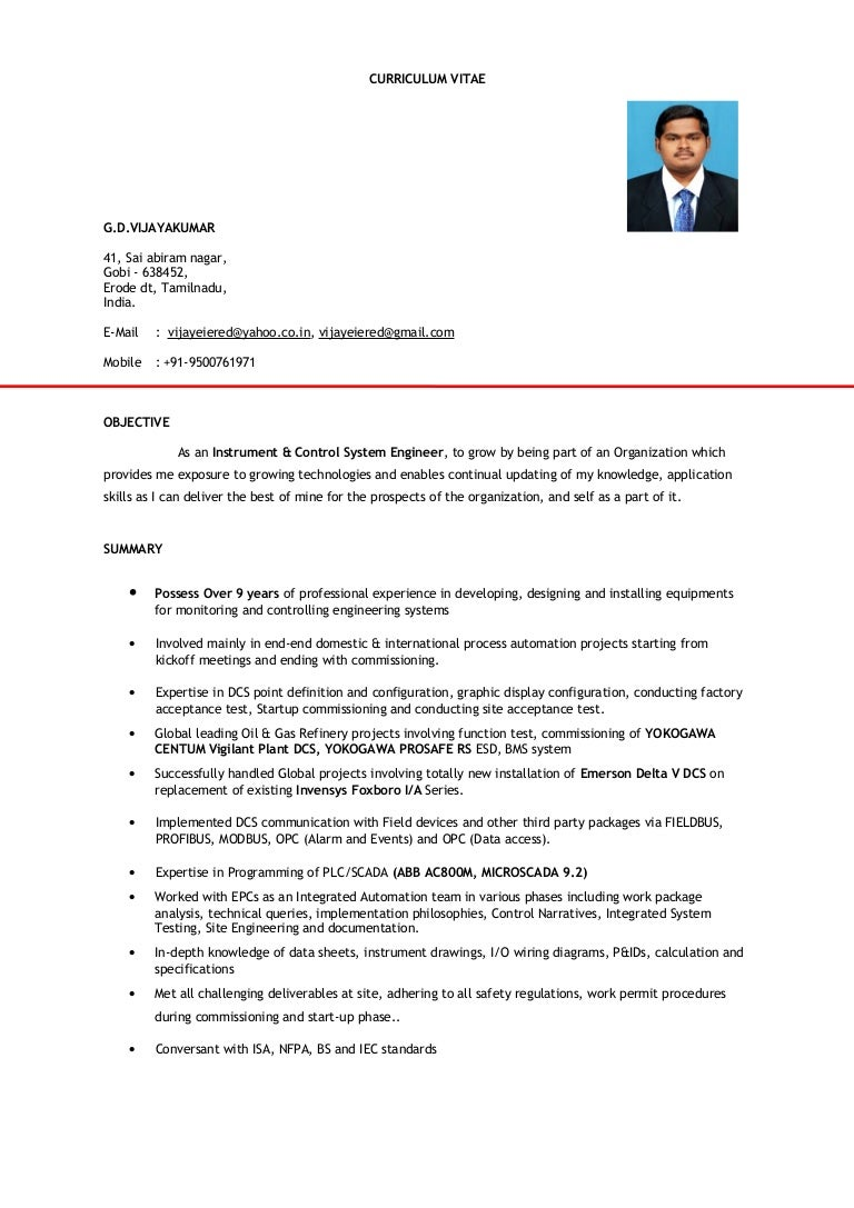 ICS ENGINEER CV WITH IMAGE (doc) on