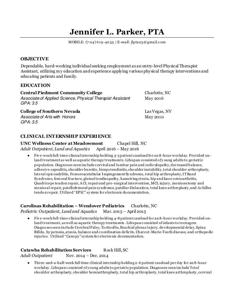 best physical therapist resume example livecareer pta resume pta resume resume cv cover letter pta resume format