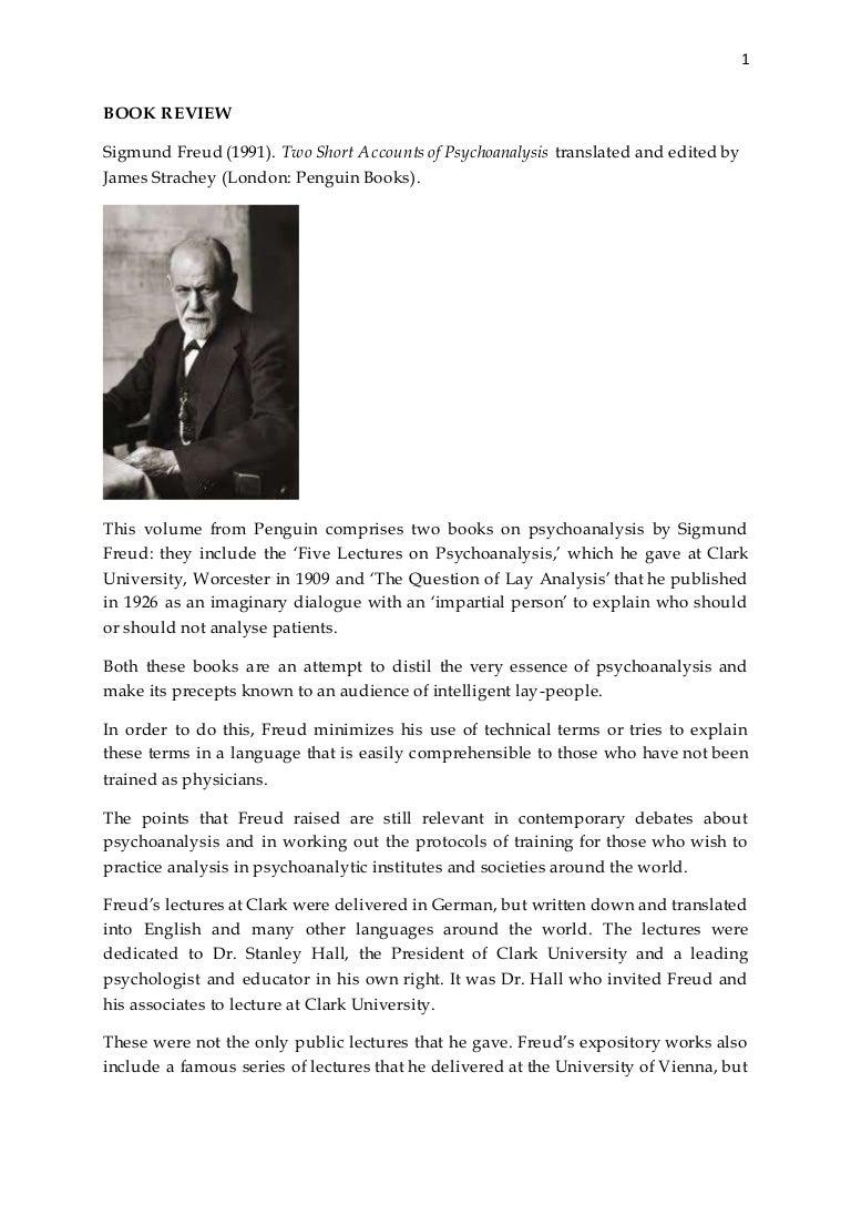 sigmund freud s two short accounts of psychoanalysis