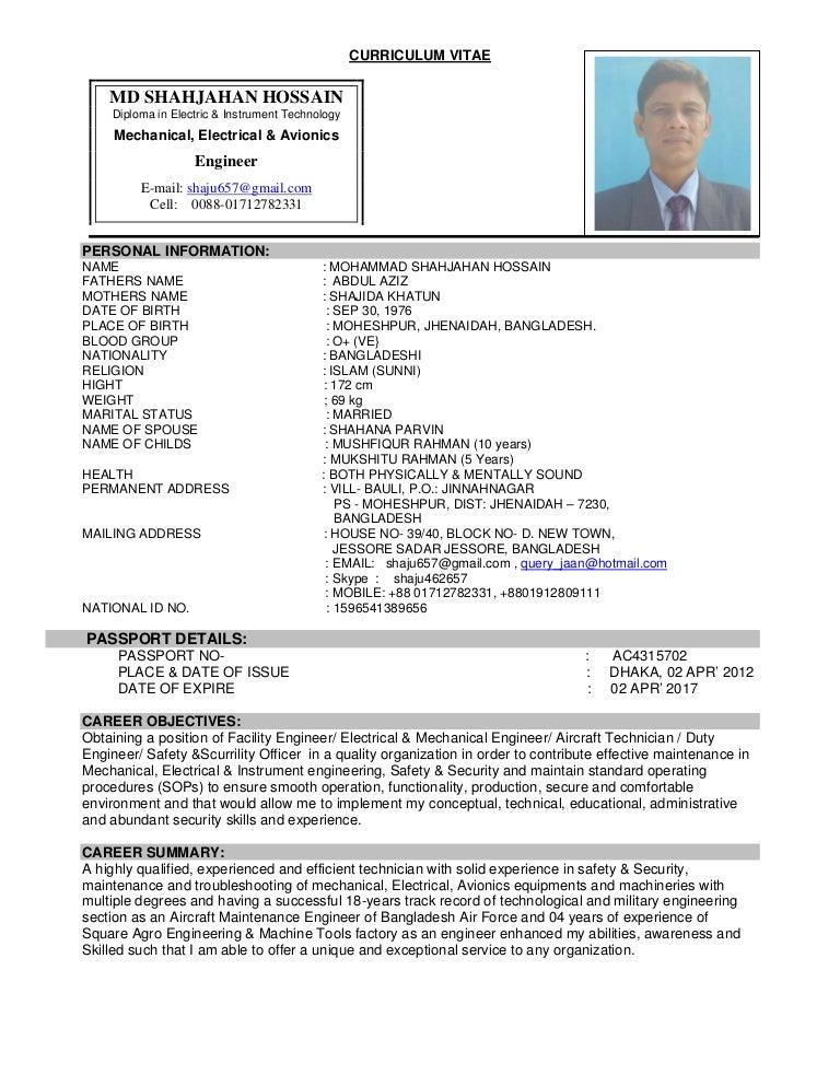Resume To Engineer Doc Pdf