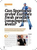 Eurofruit magazine article august 2011 - cover story on sportacus and europe's falling consumption