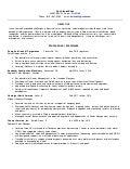 Sports Management Resume