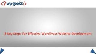 8 key steps for effective word press website development