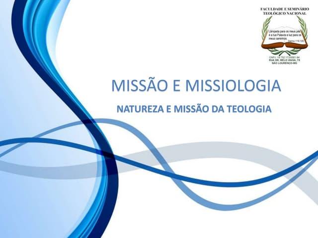 8 natureza e missão da teologia