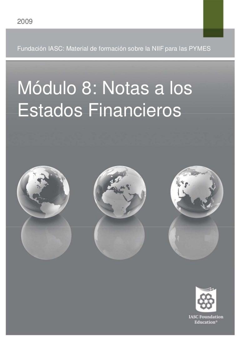 NIIF NOTAS ESTADOS FINANCIEROS