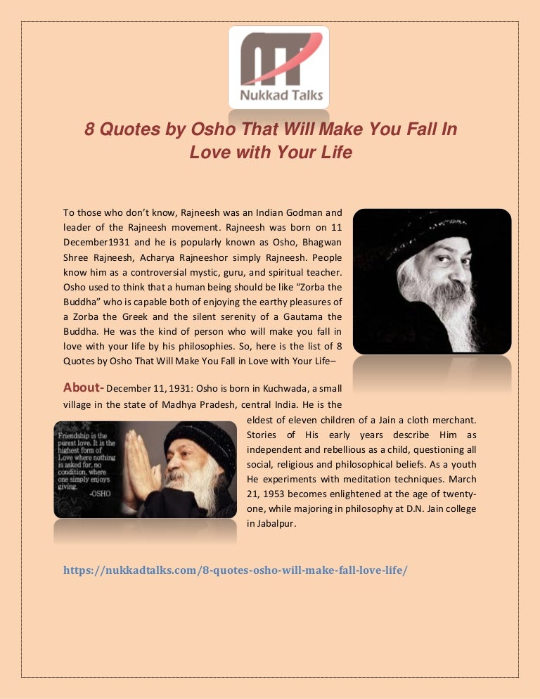 Eight Quotes By Osho That Will Make You Fall In Love With