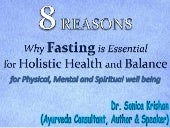 8 Reasons Why Fasting is Essential for Holistic Health and Balance