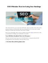 8 seo mistakes that are eating your rankings