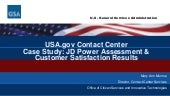 USA.gov Contact Center Case Study: JD Power Assessment & Customer Satisfaction Results