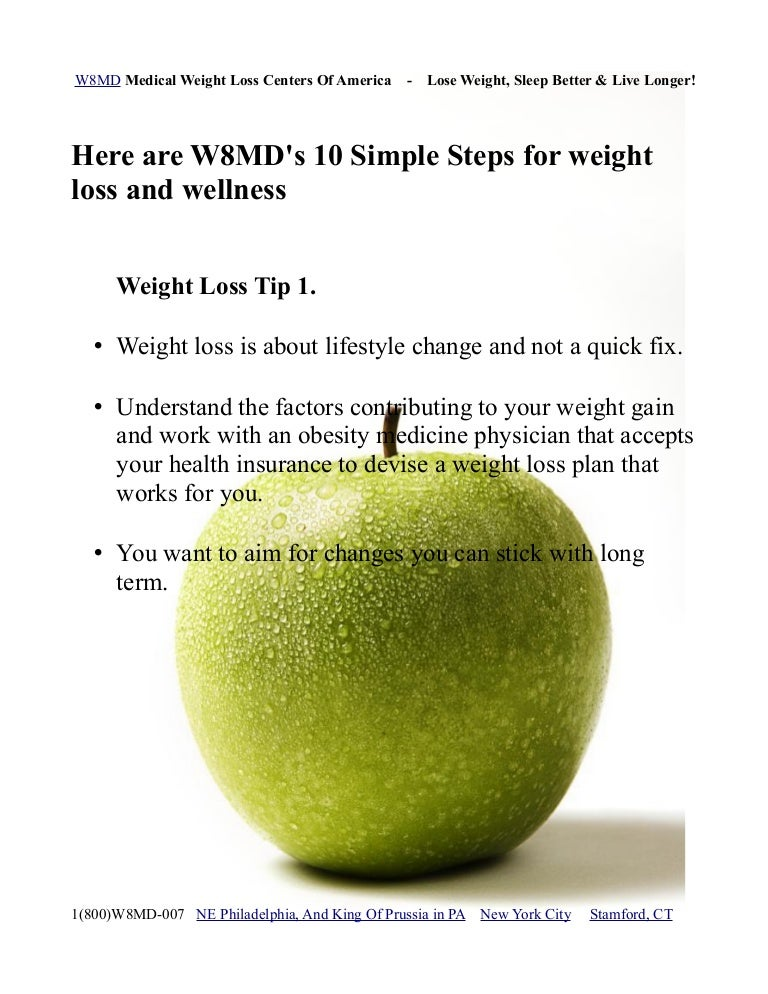 10 Steps To Weight Loss And Wellness Weight Loss Tips By W8md Medic