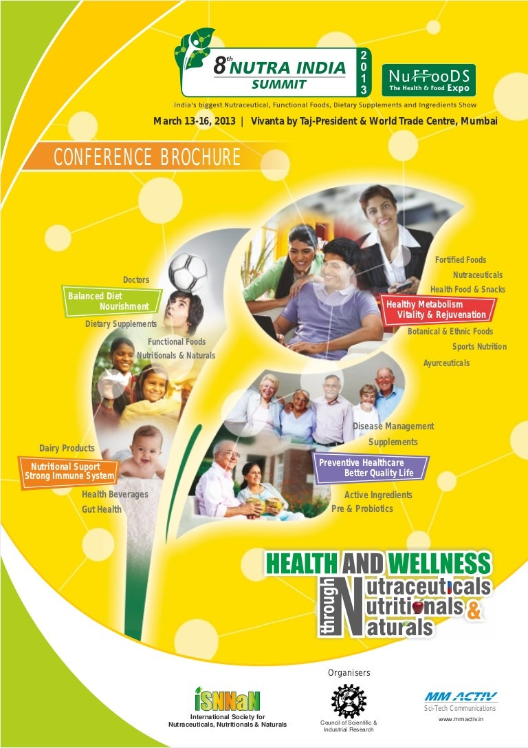The new 8th Nutra India Summit brochure with the latest updates