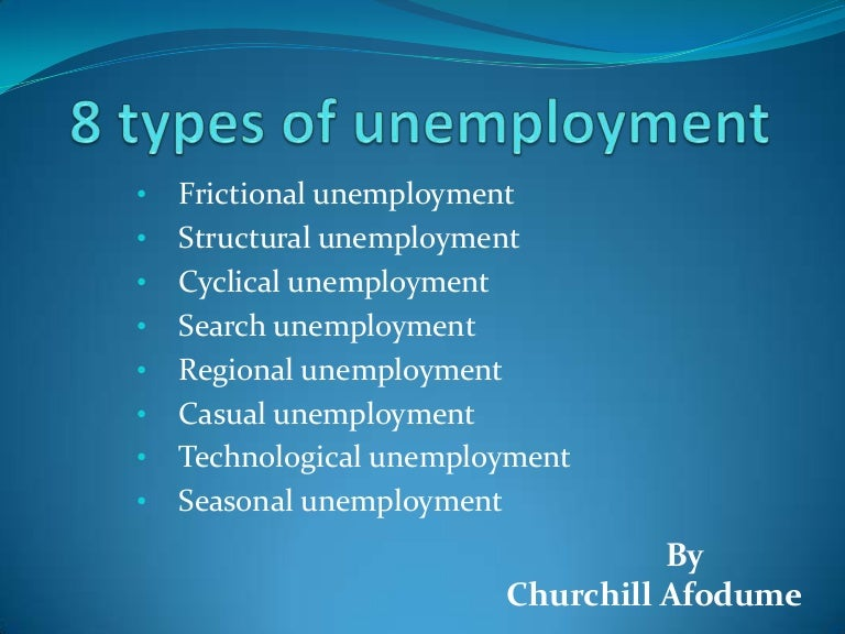 what are the various types of unemployment