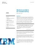Business Analytics for Manufacturing - IBM Cognos