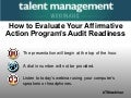 How to Evaluate Your Affirmative Action Program's Audit Readiness