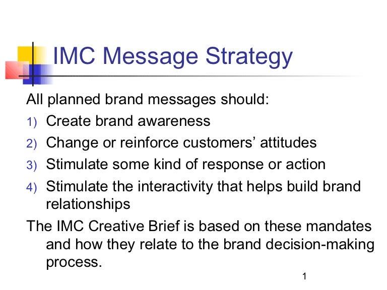 9 imc message strategy