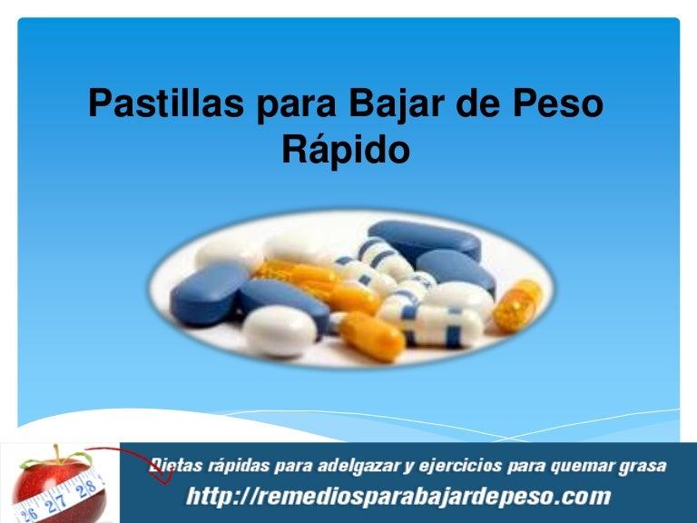 Nombres de pastillas para bajar de peso rapido