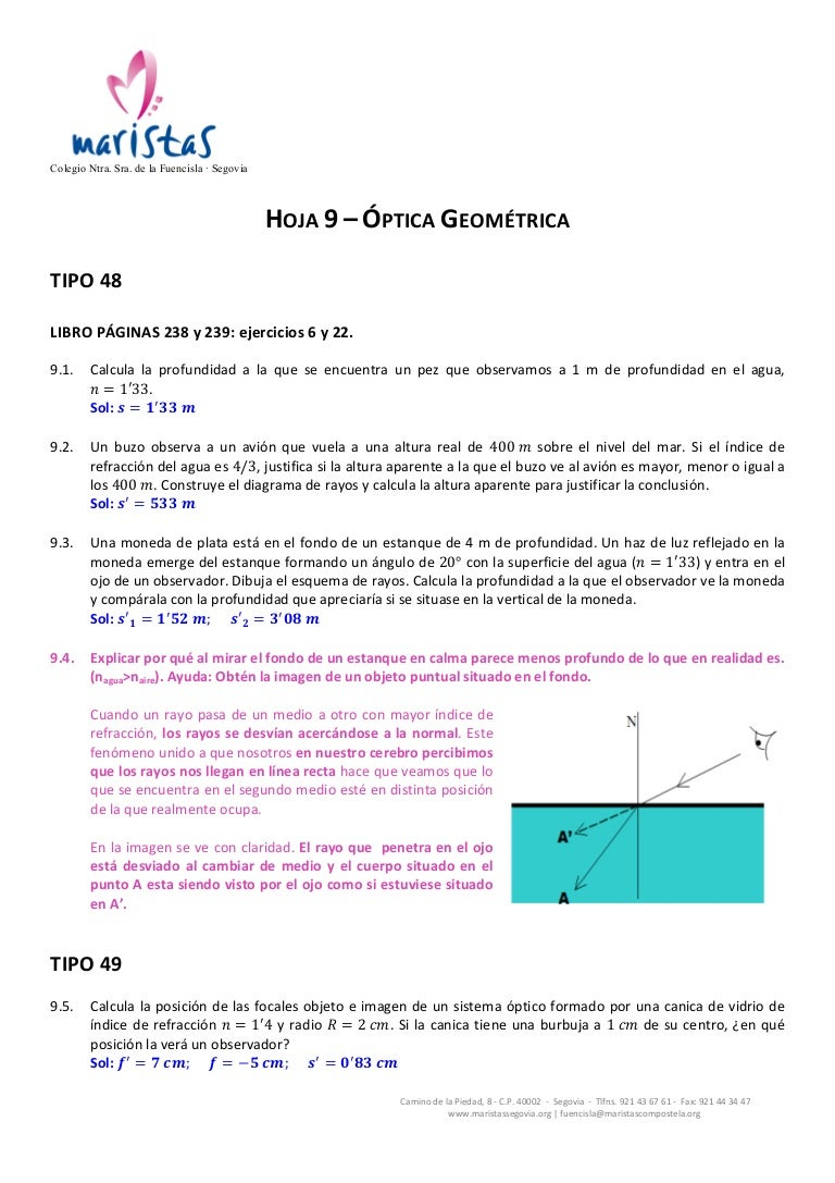 c36c75b113 9. Problemas de óptica geométrica