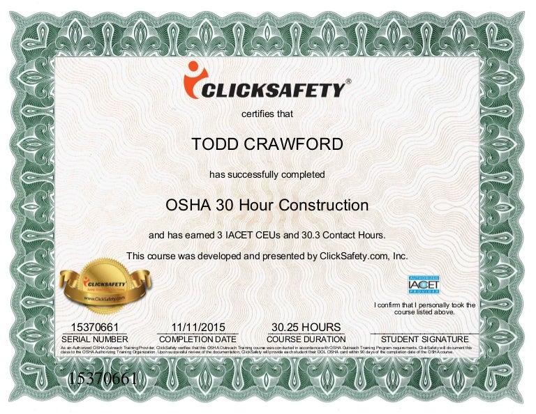 osha 30 hour certificate 1