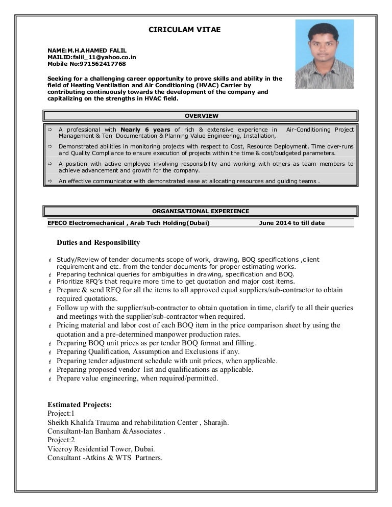 hvac estimation engineer. Resume Example. Resume CV Cover Letter