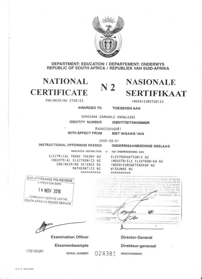 certificate electrical engineering n2 slideshare upcoming