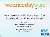 How Traditional PR, Done Right, Can Accelerate Your Franchise System
