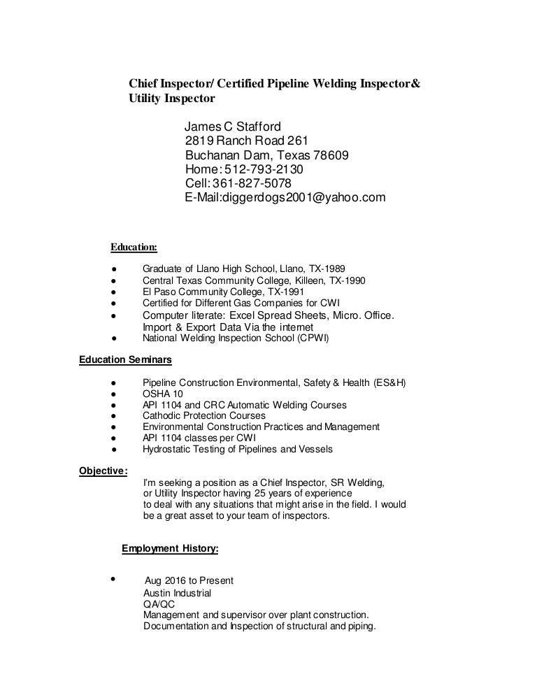 james stafford u0026 39 s resume