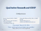Qualitative Research and CEHP (Turell & Howson)