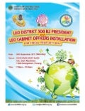 924 Leo District 308 B2 President and Leo Cabinet Officers Installation booklet
