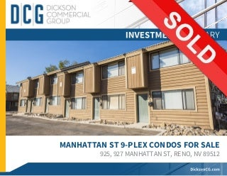 SOLD - 925,927 Manhattan St, Reno - 9 Units - $650k - 5.5% Cap