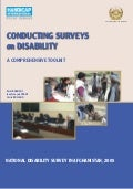 HI 92a - Conducting surveys on disability : a comprehensive toolkit
