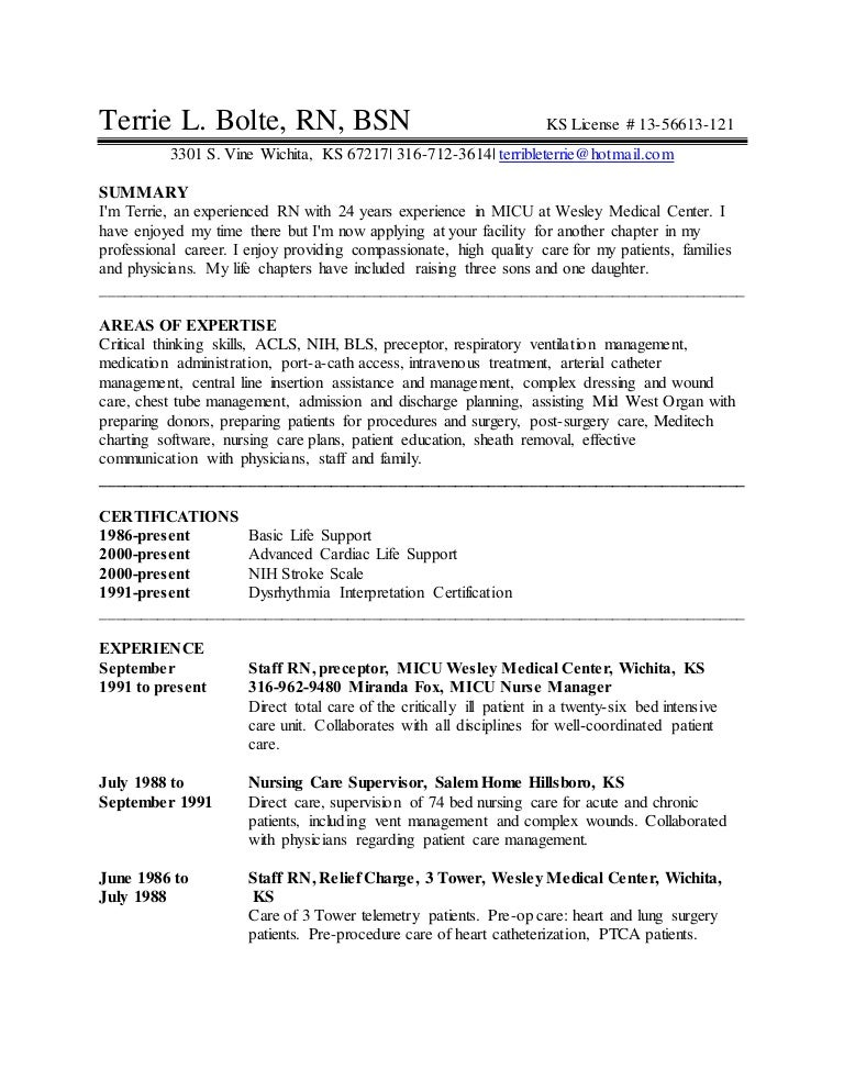terrie bolte u0026 39 s resume