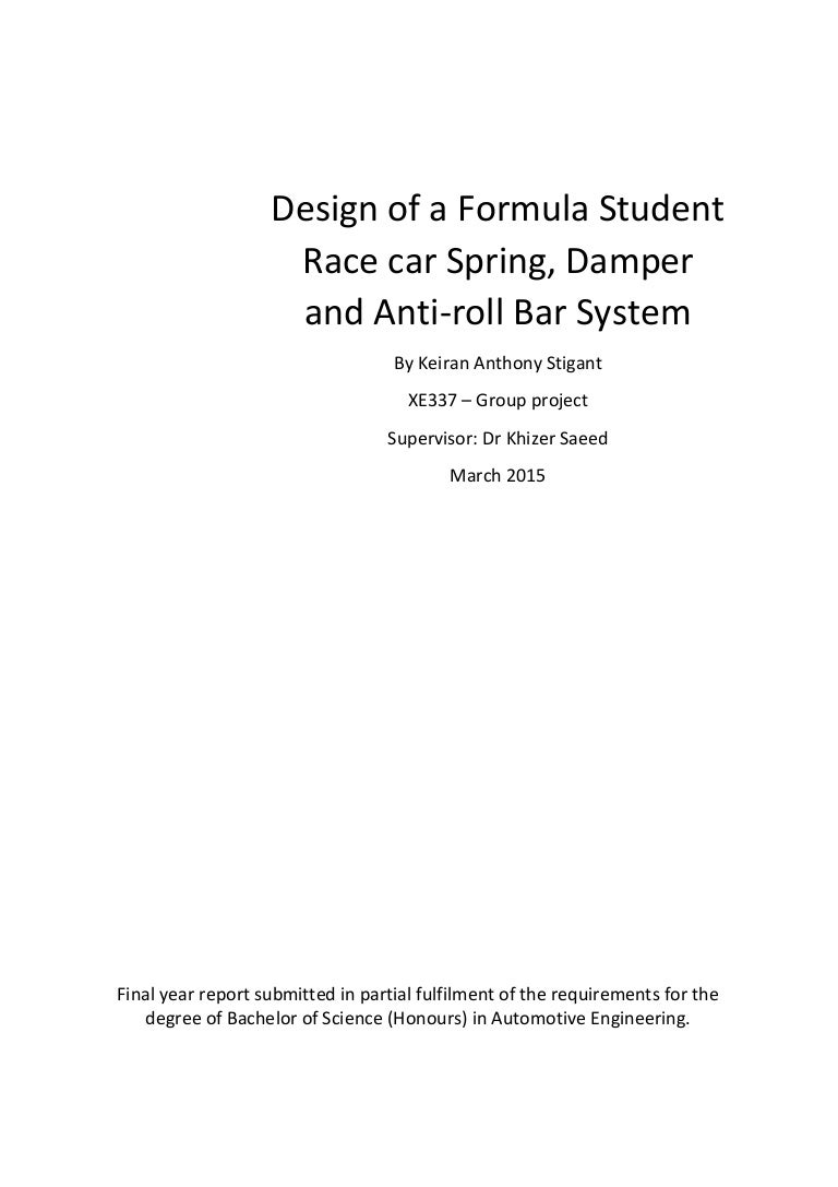 Dissertation - Design of a Formula Student Race Car Spring