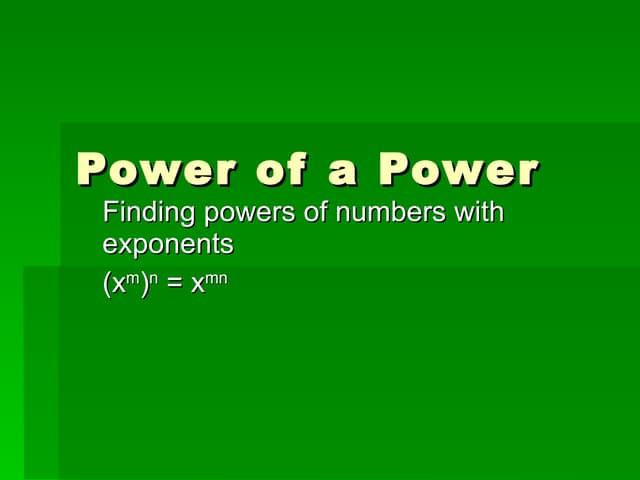 9 2power Of Power