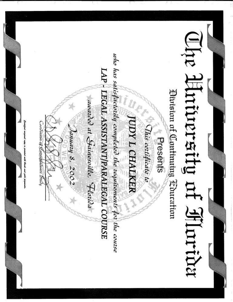 paralegal certificate florida studies completion univerisity slideshare