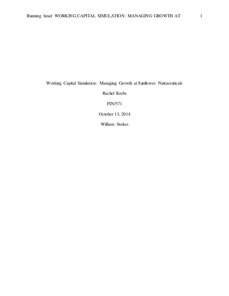 A study on working capital management Example of essay question Literature on Working Capital Management and Profitability