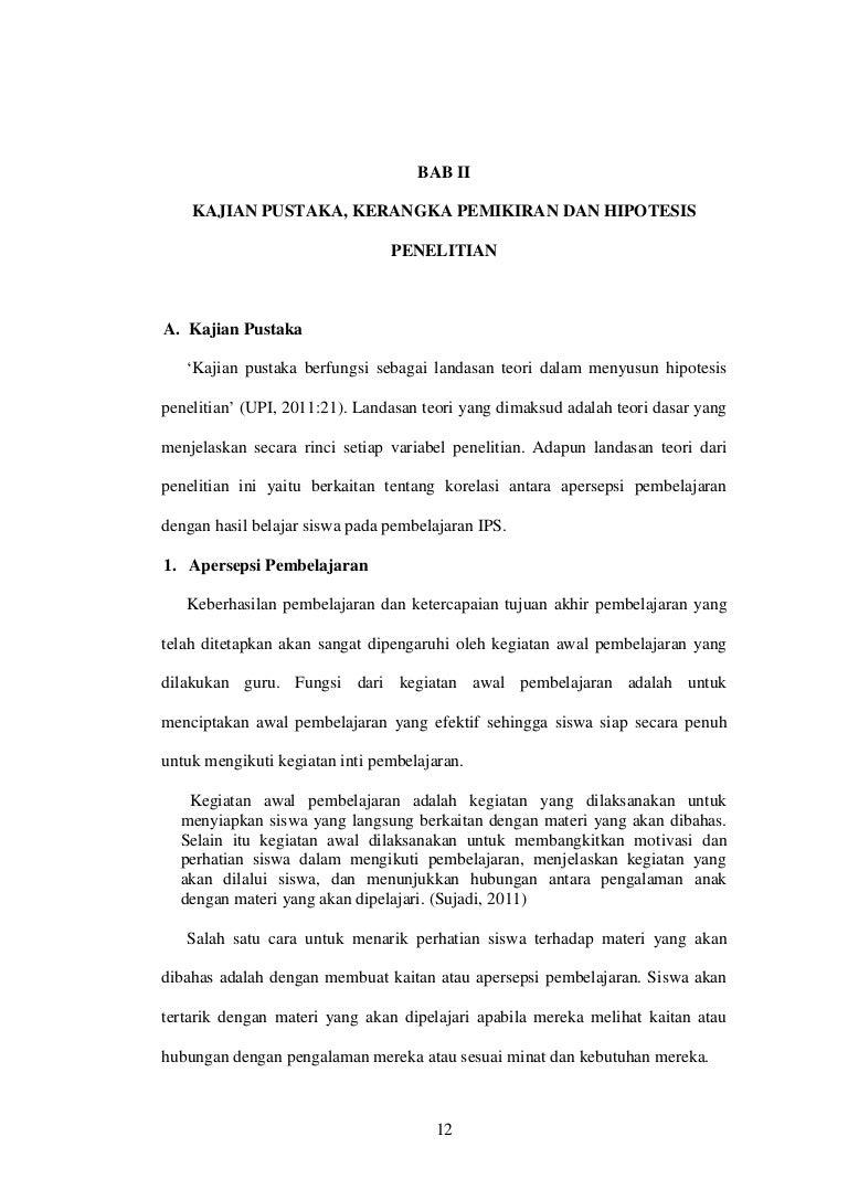 Contoh Soal Dan Materi Pelajaran 2 Contoh Tesis Bab 2