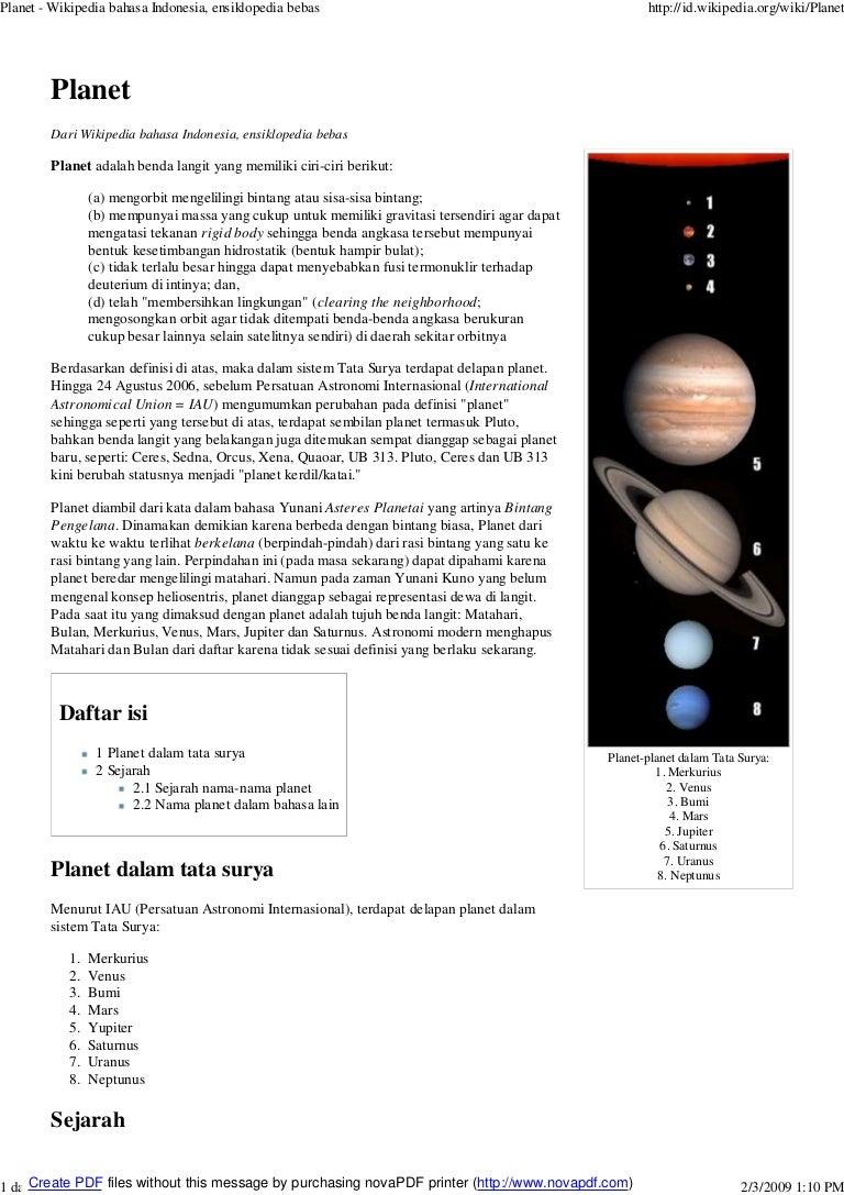 Tata Surya Planet
